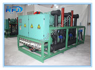 ประเทศจีน High Temperature Air Cooled Condensing Unit For Blast Freezer , Three Screw Compressor Rack โรงงาน