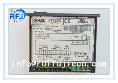 ประเทศจีน Black Dixell Thermostatic Controller , Digital Temperature Controller Dual output thermostat XT120C ผู้จัดจำหน่าย