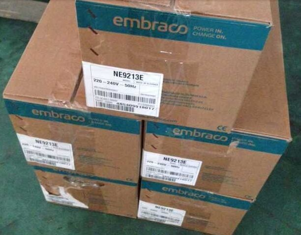 1 Phase Embraco / aspera refrigeration compressor 1 Ph NEU2178GK with gas R404a